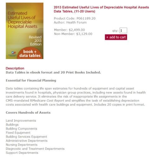 Depreciable Hospital Assets